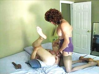 aged amanda drills a fellow