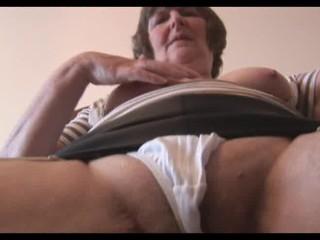 hawt unshaved granny in mini petticoat
