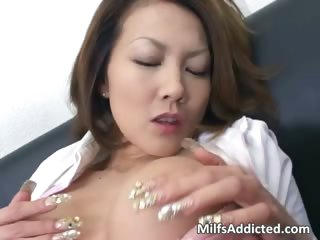 concupiscent oriental milf touches her juicy