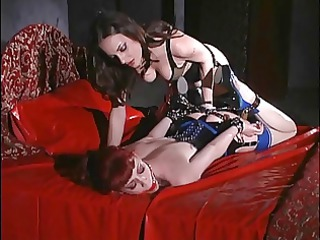 bossy brunette hair treats redhaired chick like a