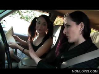 hot mama and daughter talked into fucking