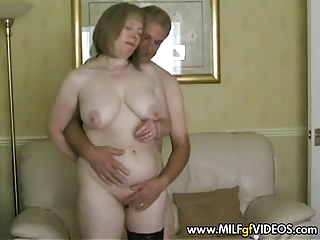 granny engulfing penis