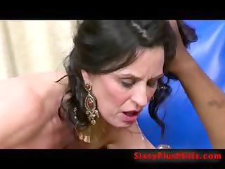 sexy grandma fucking big dark stud