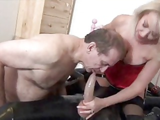nice-looking blond mother i to engulf shlong