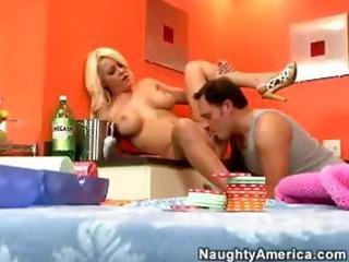 breasty blonde wife megan monroe seduces hubby