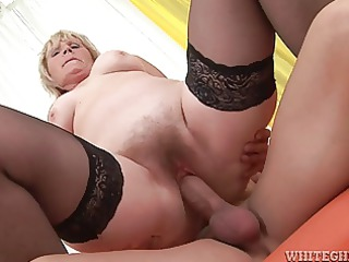 old granny is still good at getting cock