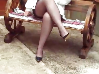 my mum in nylons