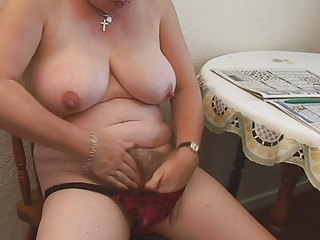 shaggy plump aged fingering