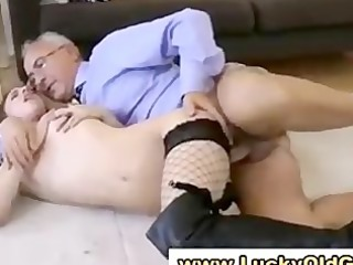 european babe in stockings gets drilled and sucks