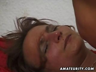 amateur mature wife sucks and fucks with cum in