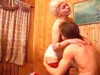 hirsute granny fucks her mate