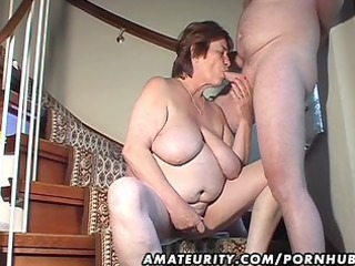 overweight dilettante wife toys and sucks and