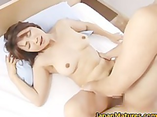 concupiscent japanese aged sweethearts sucking