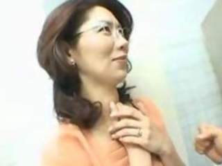 japanese milf drilled in bathroom