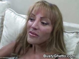 tasty mature lady engulfing afro knob
