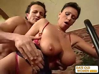 exotic hot looking older acquires the pounder in