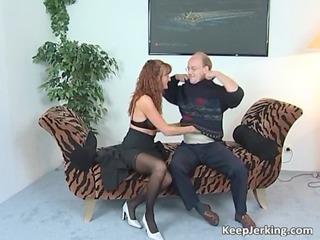 lewd redhead d like to fuck sucks corpulent ramrod