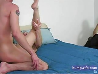 cuckold wife sucks spouse watches in shame from