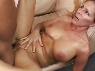 breasty blonde momma gets her shaved nookie
