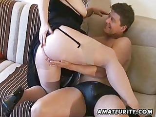 breasty amateur milf sucks and copulates with cum