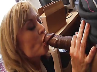 white milf eats black penis cock juice