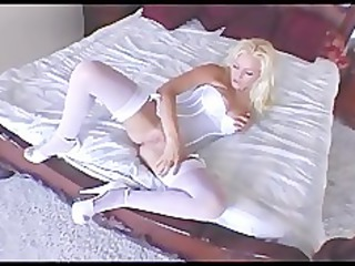 busty d like to fuck rubs her pussy in a teddy