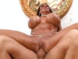 tanned brunette momma with biggest knockers rides