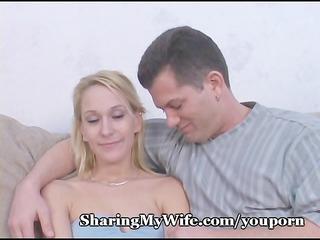 sexy wifey takes goo shower