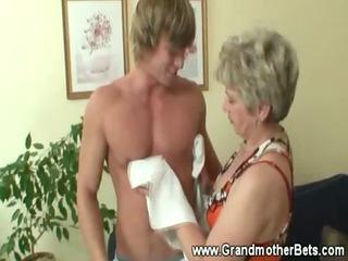 granny seducing younger cock