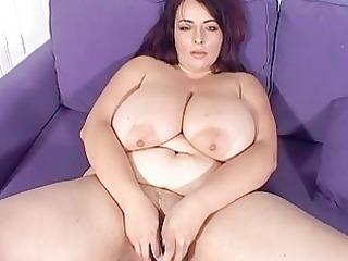 big breasted milf playgirl masturbates on the