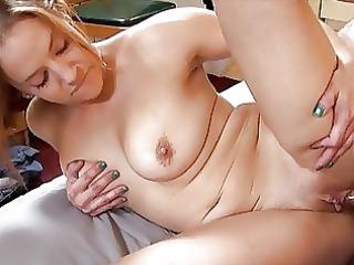hawt tattooed momma with large bosom sucks hard