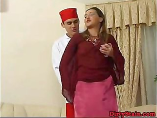 lonely mom seduces her sons ally and copulates on