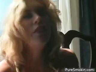 fantastic blond mother i smokes cigarette part3