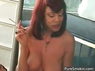 juggs red haired bimbo smokin s and m scene part0