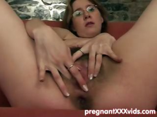 guy joins his fingering pregnant wife
