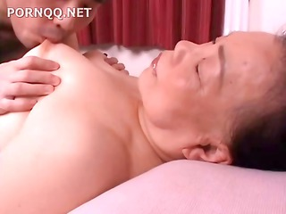 older asian momma acquires a naughty creampie