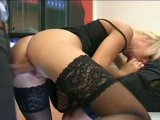 blonde d like to fuck secretary gets double