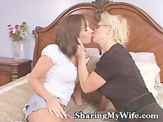 cougar recruits babe to share with hubby