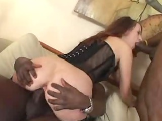 dark brown fucking a pair of darksome guys