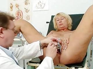 hawt breasty granny mangos and pussy gyno checkup