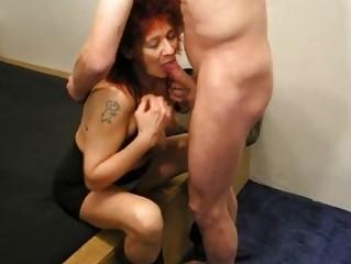 mature redhead dilettante wife sucks and copulates