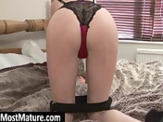 milf chick masturbating bald muff