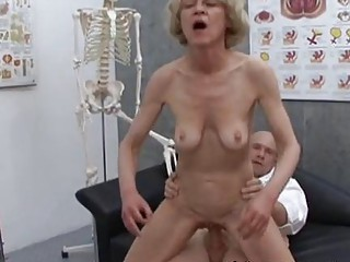 mature granny blond marie fucking with doctor