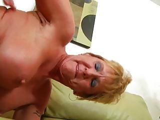 aged granny takes hard pounding