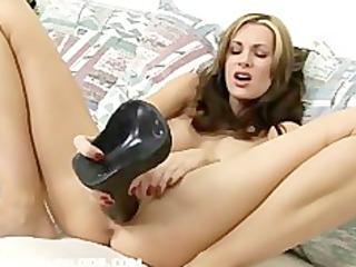 hawt mother i brandi fucking a brutal fake penis