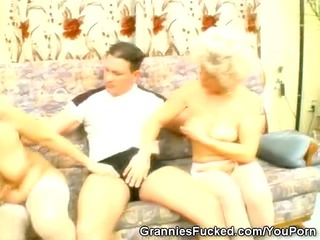 grannies share one dick