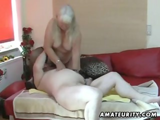 fat non-professional wife sucks and bonks on her