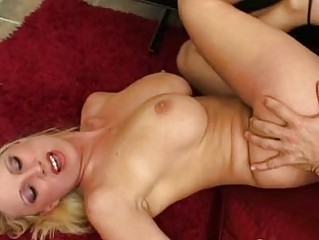 breasty golden-haired milf with hairless putz