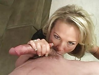 sexy ass blonde milf with big milk cans licks