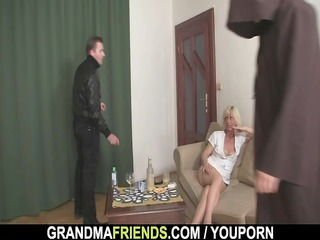 sexy golden-haired mature needs new rods